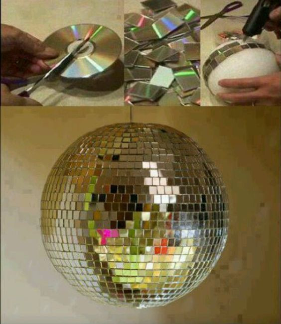 Best ideas about DIY Disco Balls . Save or Pin Vases for centerpieces Styrofoam ball and Make your on Now.