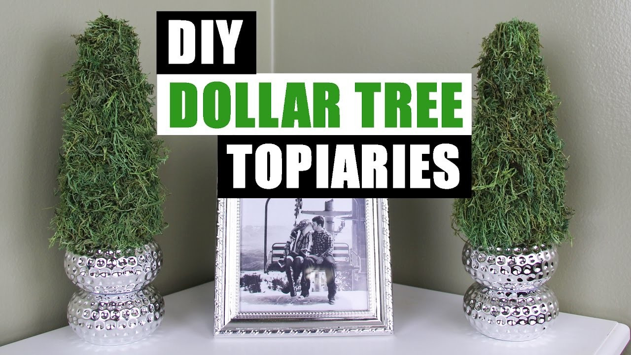 Best ideas about DIY Dollar Tree . Save or Pin DIY DOLLAR TREE TOPIARIES Dollar Store DIY Spring Topiary Now.