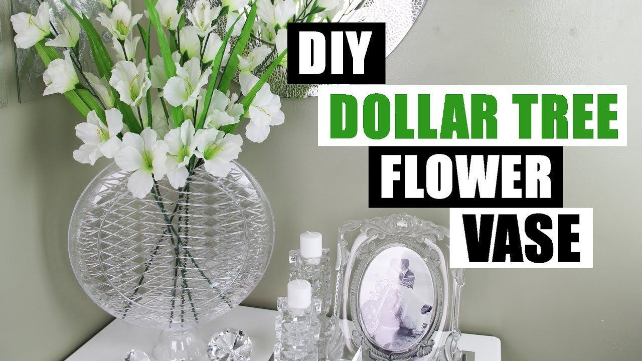 Best ideas about DIY Dollar Tree . Save or Pin DIY DOLLAR TREE GLAM VASE Dollar Store DIY Glam Flower Now.