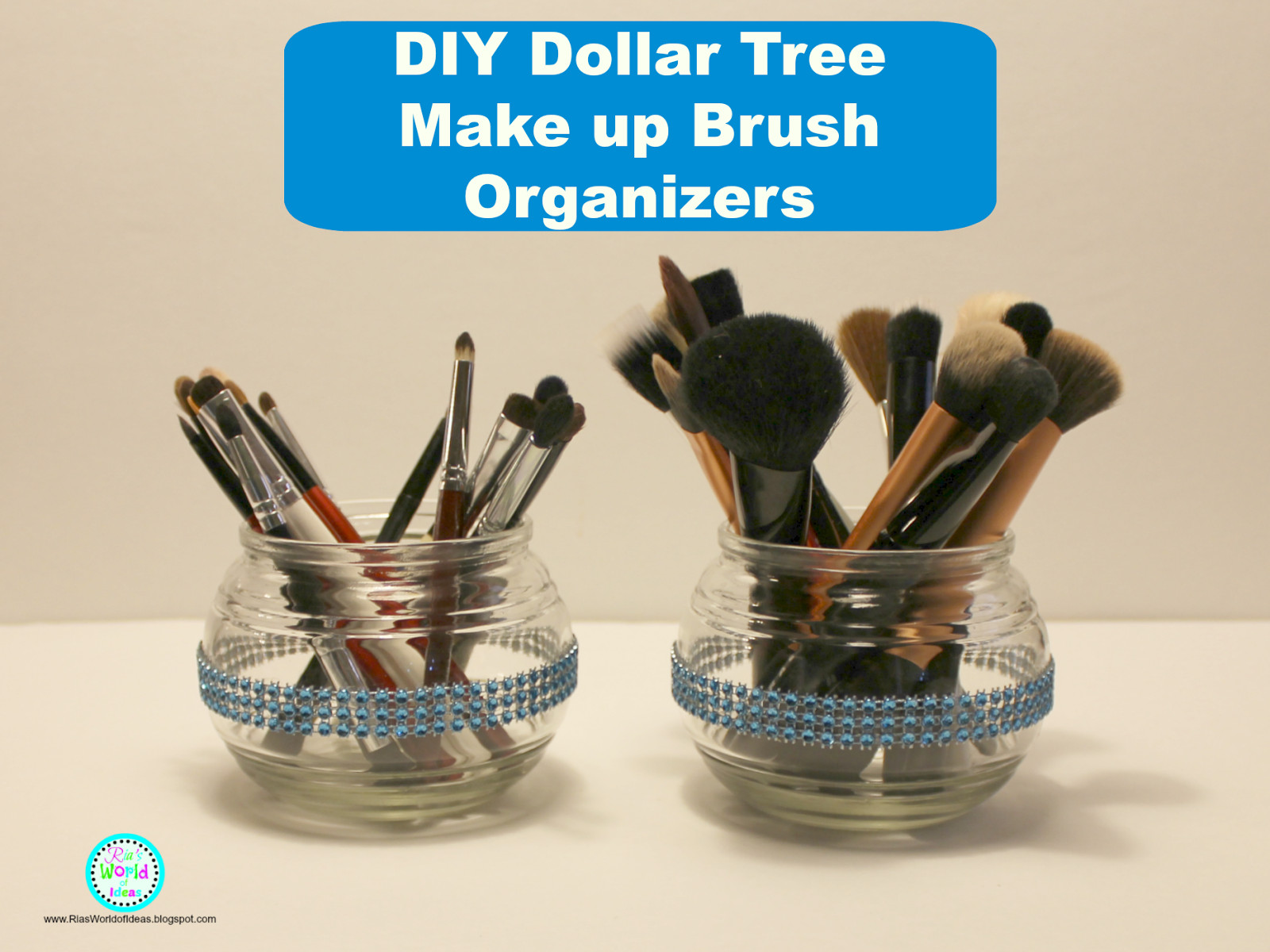 Best ideas about DIY Dollar Tree . Save or Pin Ria s World of Ideas DIY Dollar Tree Make up Brush Organizers Now.