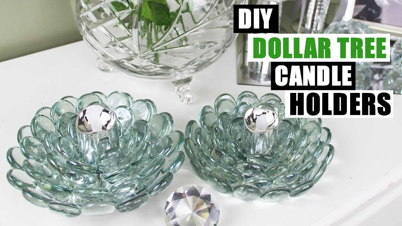 Best ideas about DIY Dollar Tree . Save or Pin DIY DOLLAR TREE GLAM CANDLE HOLDERS Dollar Store DIY Now.