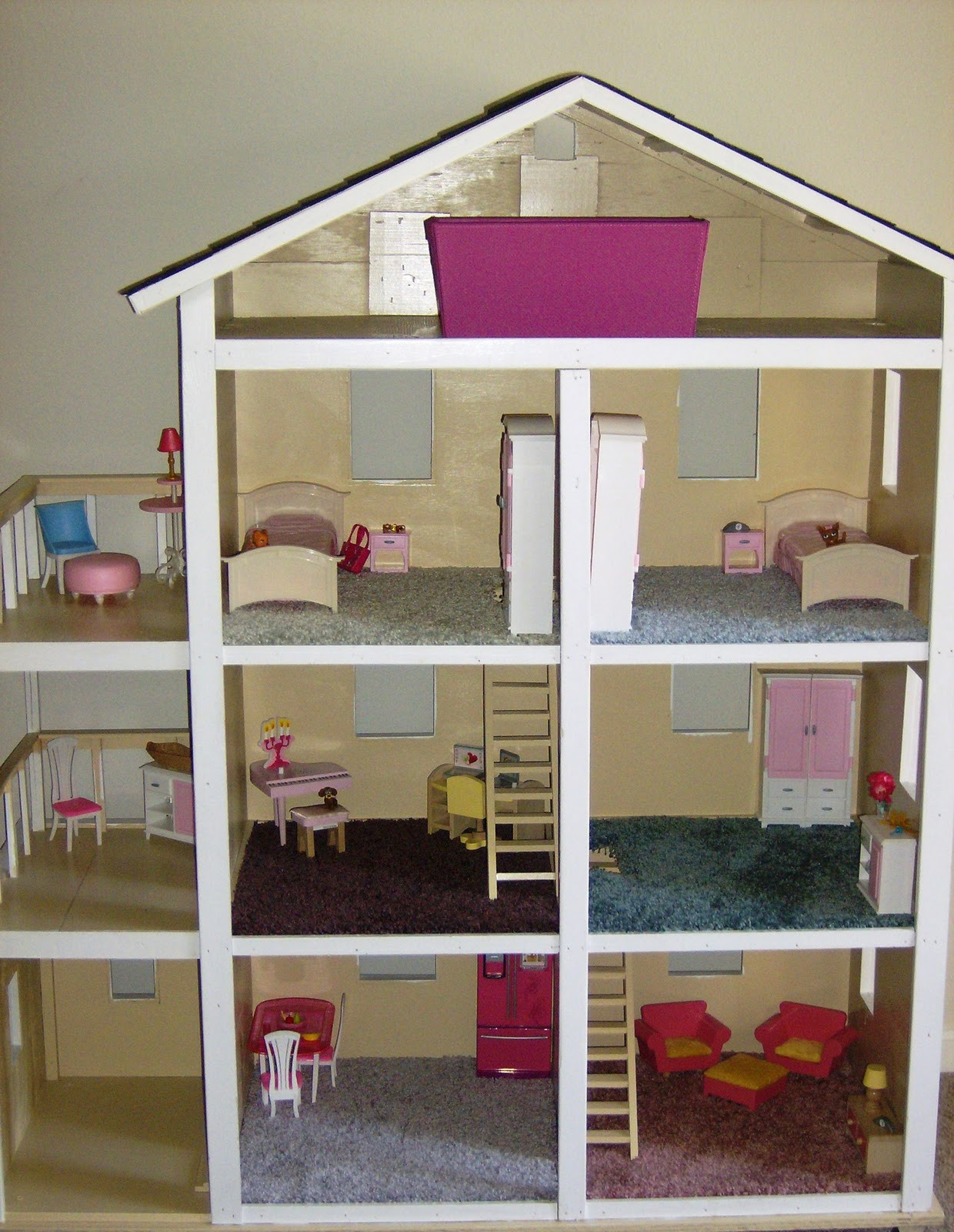 Best ideas about DIY Dollhouse Plans . Save or Pin Build It Sew It Love It DIY Barbie House Now.