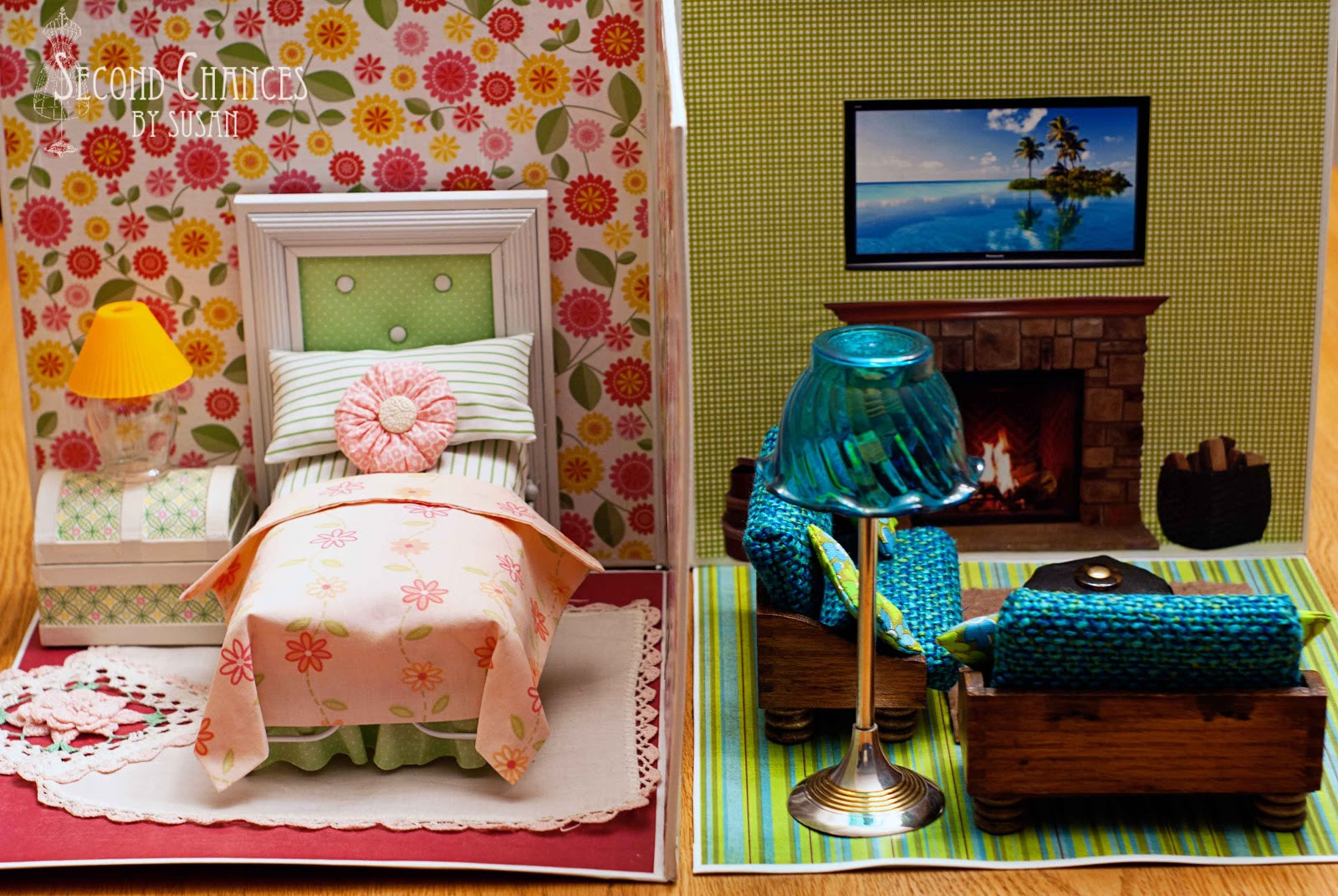 Best ideas about DIY Dolls Furniture . Save or Pin Second Chances by Susan Collapsible Dollhouse Now.