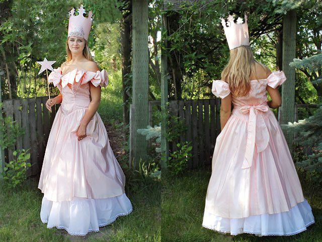 Best ideas about DIY Dorothy Costume No Sew . Save or Pin How to Style a No Sew Glinda the Good Witch Costume Now.