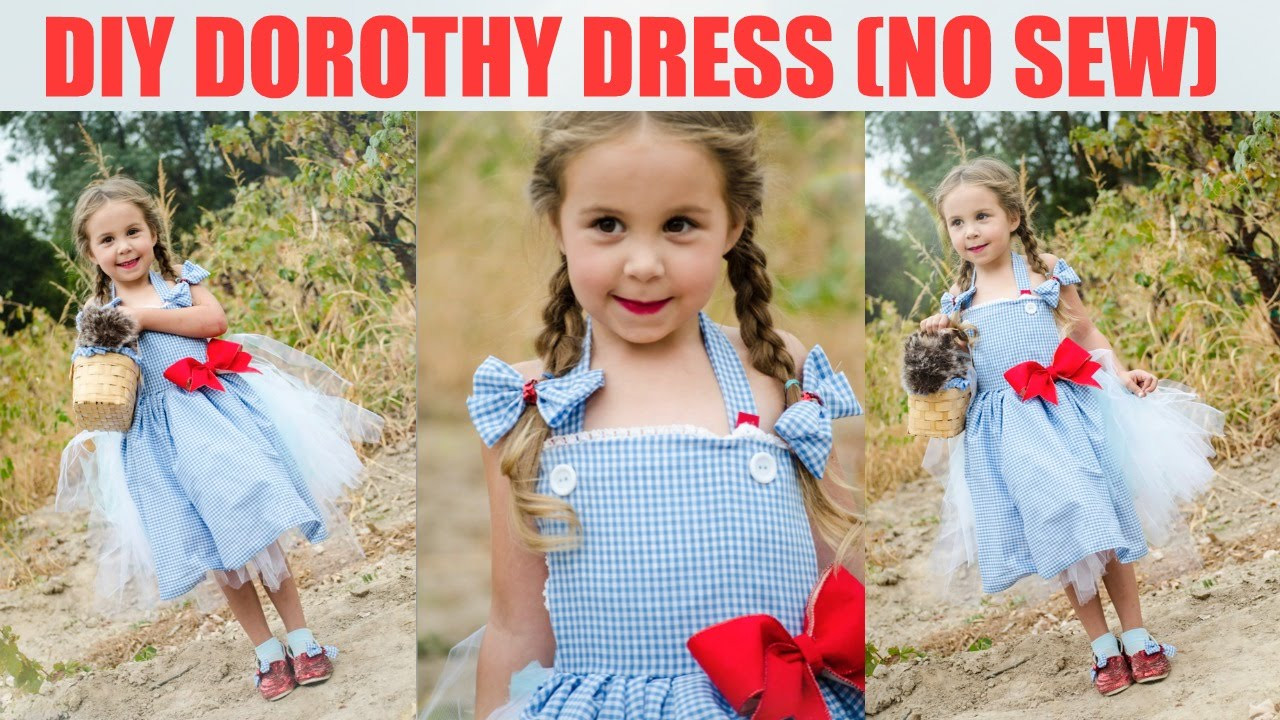 Best ideas about DIY Dorothy Costume No Sew . Save or Pin DIY No Sew Dorothy Dress Wizard of Oz Now.
