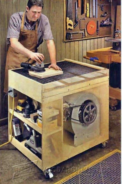 Best ideas about DIY Downdraft Table . Save or Pin Dust Free Downdraft Sanding Table Plans • WoodArchivist Now.