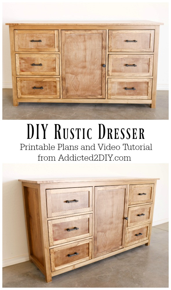 Best ideas about DIY Dresser Plans . Save or Pin DIY Rustic Dresser w Free Building Plans Addicted 2 DIY Now.