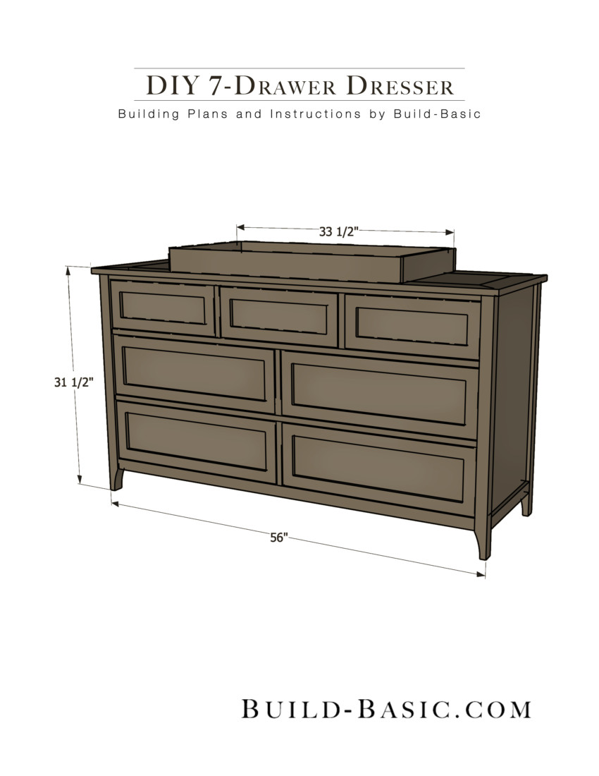Best ideas about DIY Dresser Plans . Save or Pin Build a DIY 7 Drawer Dresser ‹ Build Basic Now.