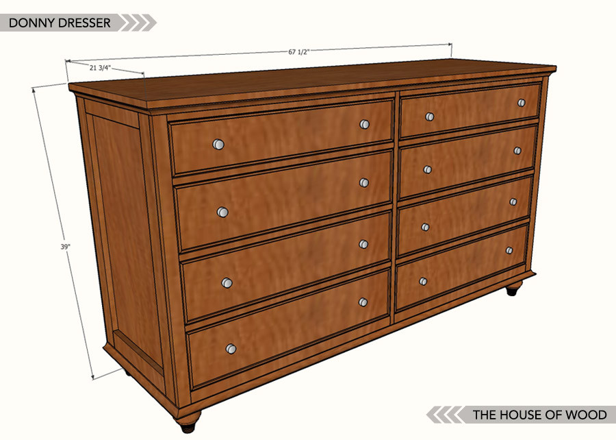 Best ideas about DIY Dresser Plans . Save or Pin How to build a DIY dresser Free plans Now.