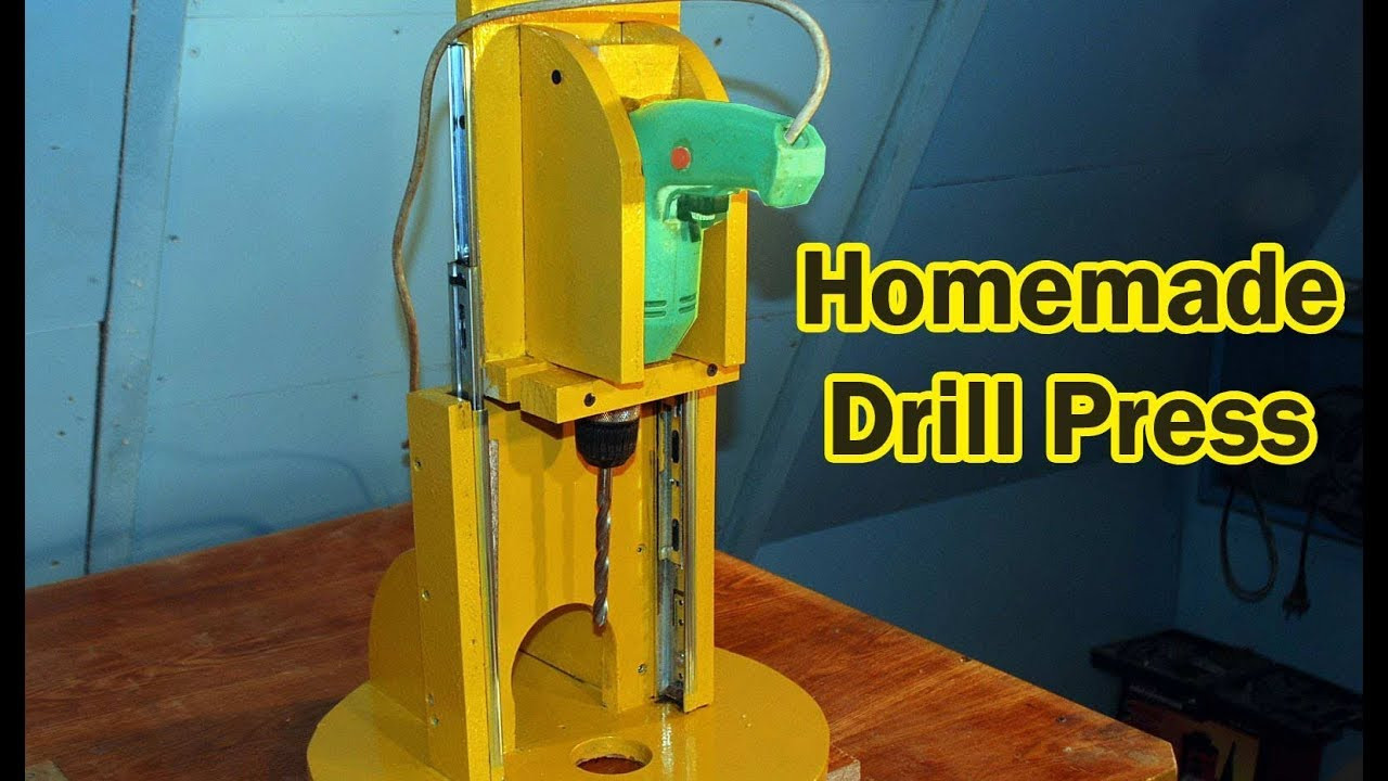 Best ideas about DIY Drill Press . Save or Pin Homemade Drill Press Now.