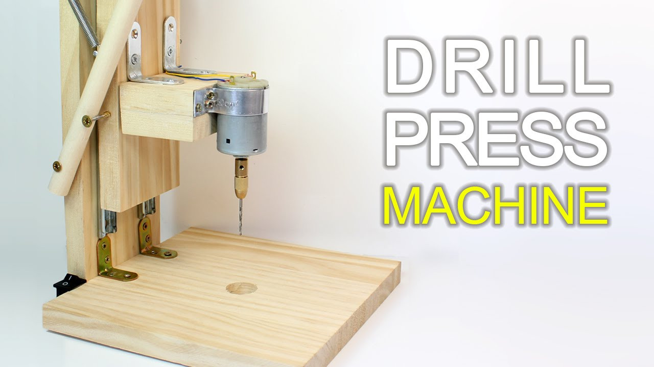 Best ideas about DIY Drill Press . Save or Pin How to Make a Drill Press Machine Now.