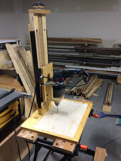Best ideas about DIY Drill Press . Save or Pin DIY Drill Press with Rubber Band Suspension Now.