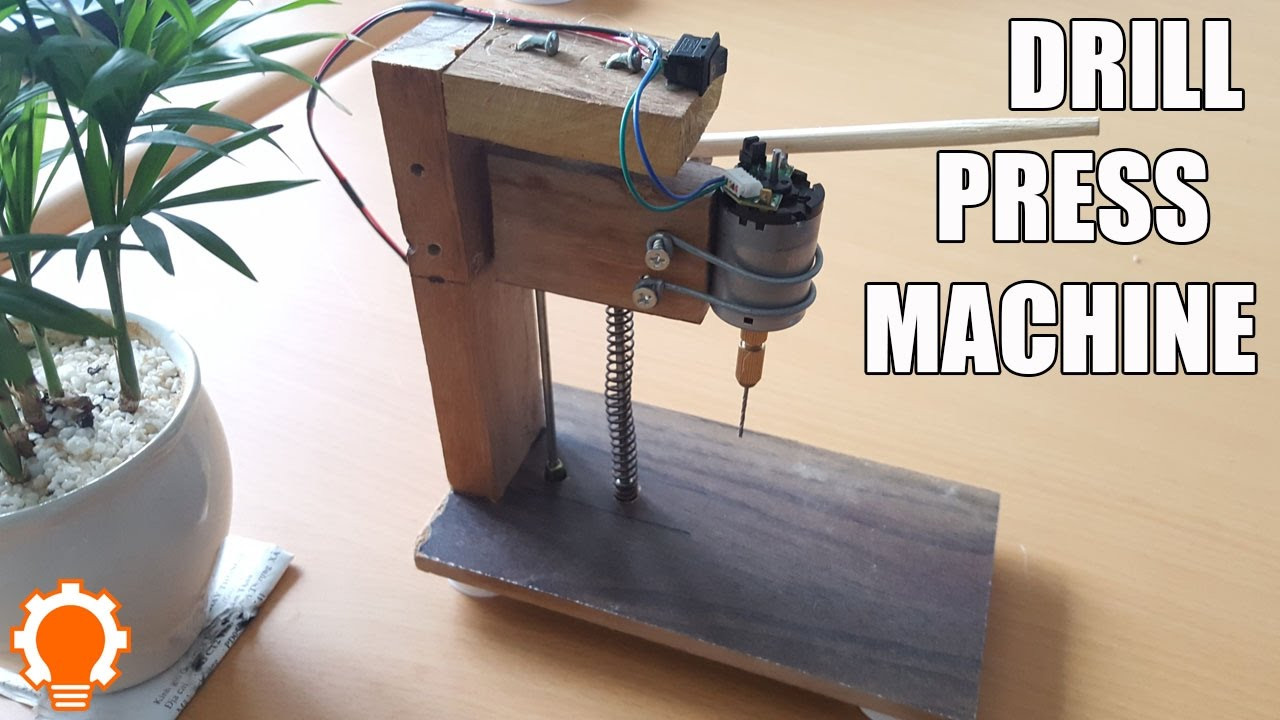 Best ideas about DIY Drill Press . Save or Pin How to make a Drill Press Machine at home DIY Now.