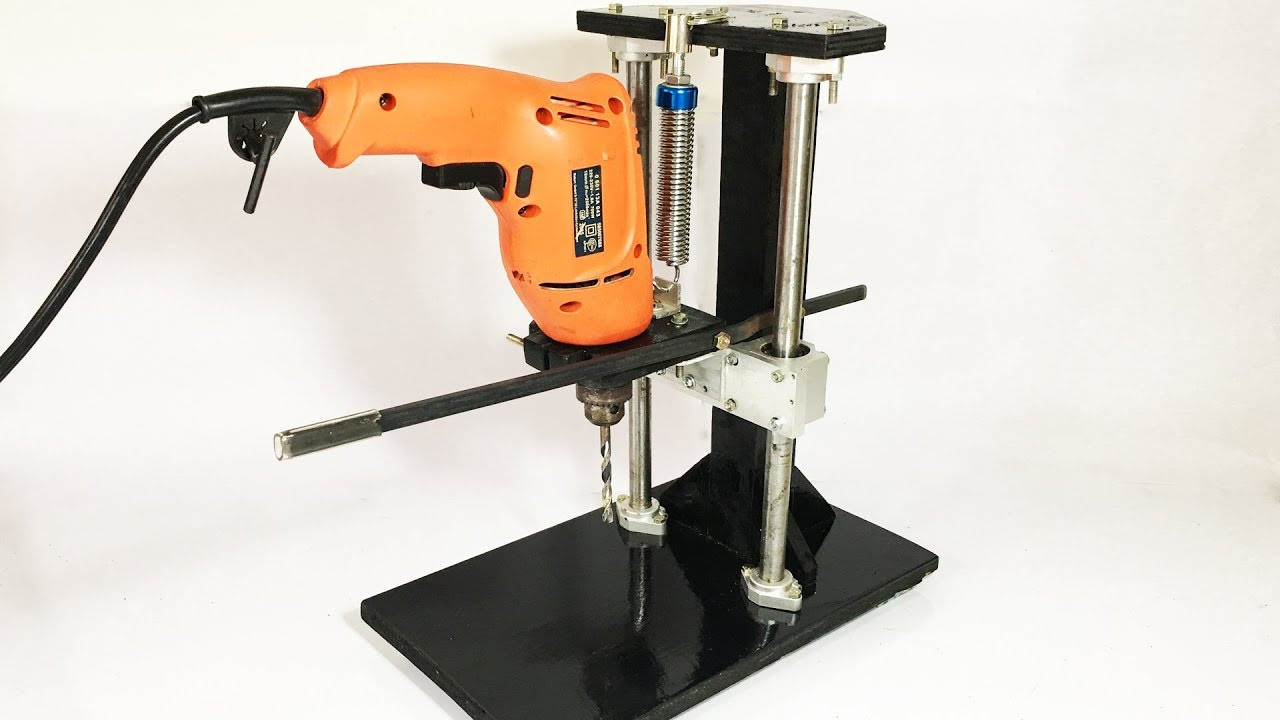 Best ideas about DIY Drill Press . Save or Pin DIY Drill Press Build Homemade Metal Drill Press Stand Now.