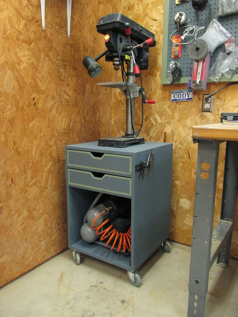 Best ideas about DIY Drill Press . Save or Pin DIY Rolling Drill Press Stand Wilker Do s Now.
