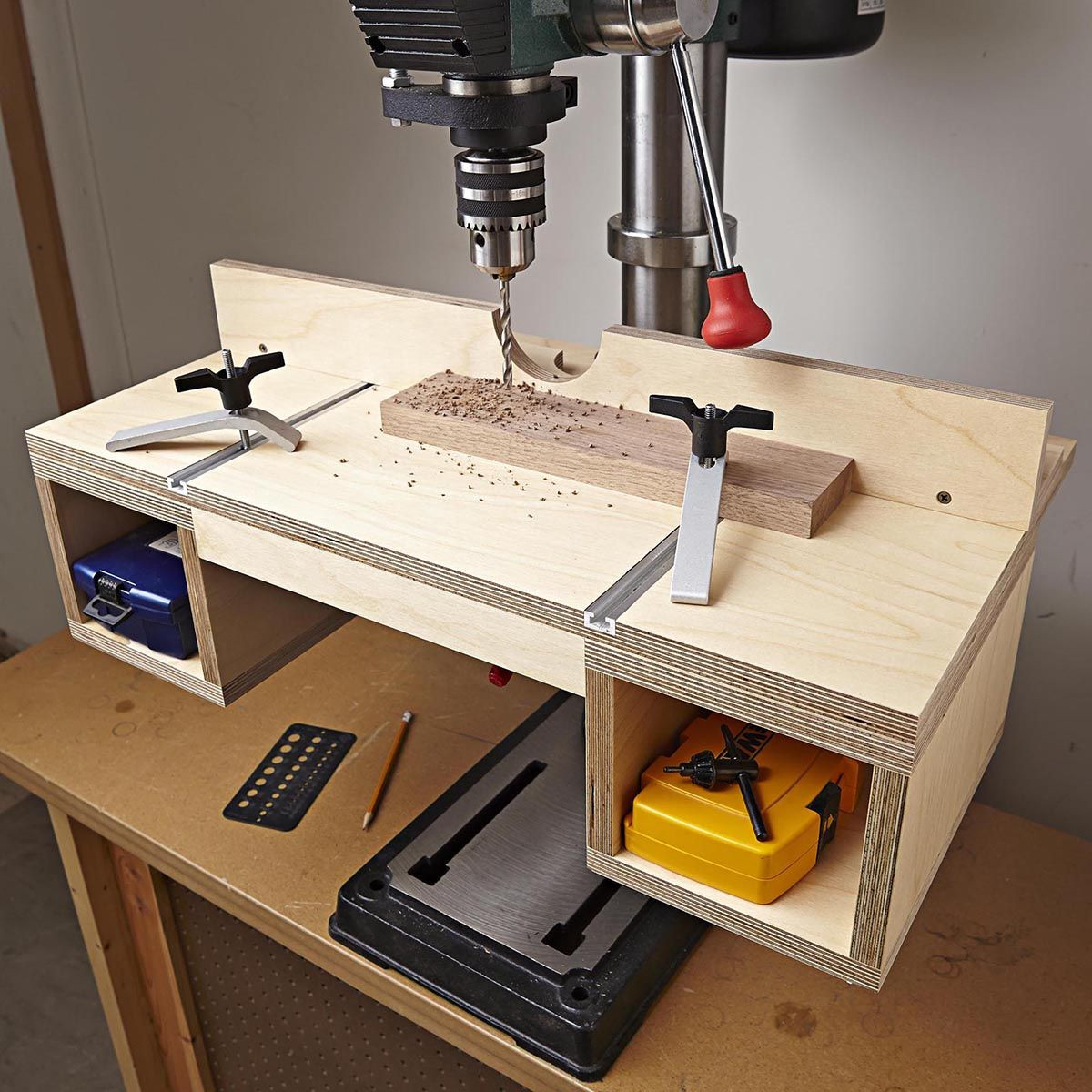 Best ideas about DIY Drill Press Table . Save or Pin Do it all drill press table woodworking plan Instantly up Now.