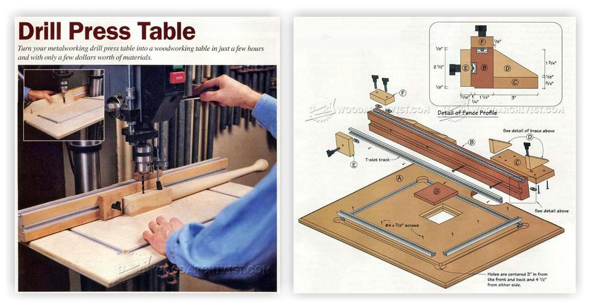Best ideas about DIY Drill Press Table . Save or Pin DIY Drill Press Table • WoodArchivist Now.