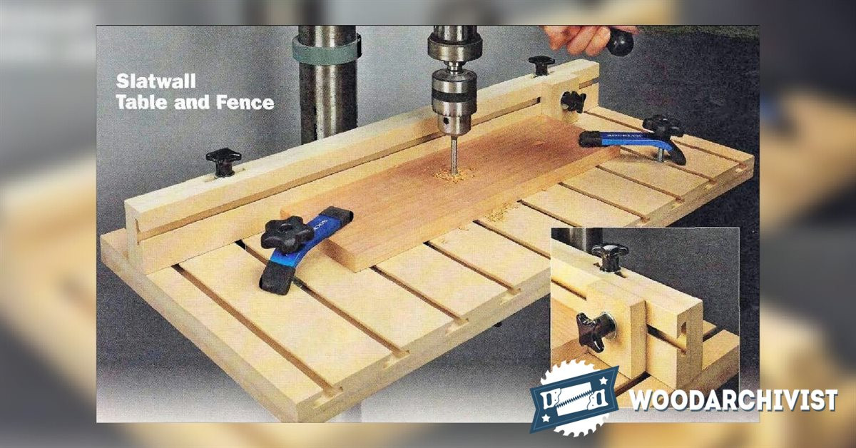 Best ideas about DIY Drill Press Table . Save or Pin Drill Press Table and Fence Plans • WoodArchivist Now.