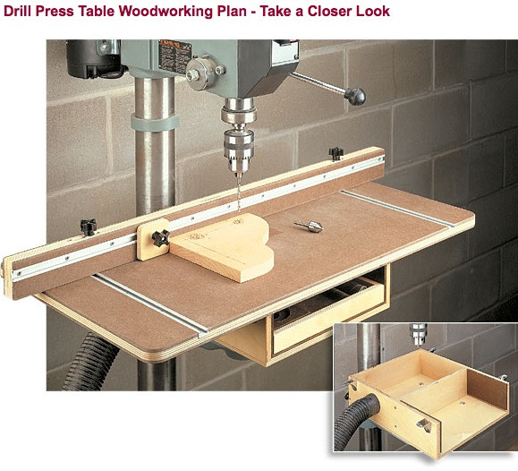Best ideas about DIY Drill Press Table . Save or Pin DIY Shopnotes Drill Press Table Plans Wooden PDF kitchen Now.