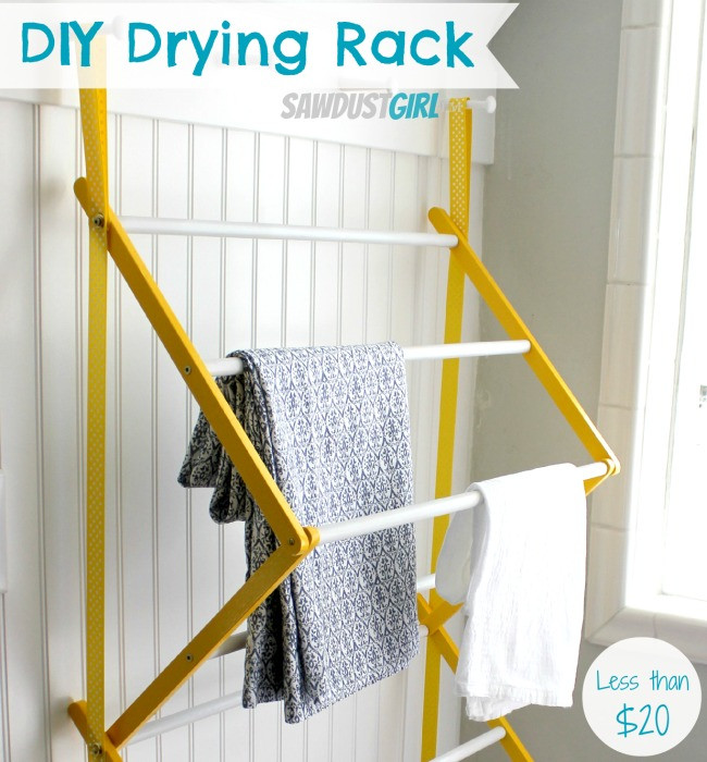 Best ideas about DIY Drying Racks . Save or Pin Hanging Drying Rack Sawdust Girl Now.