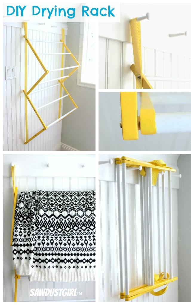 Best ideas about DIY Drying Racks . Save or Pin DIY Drying Rack Sawdust Girl Now.