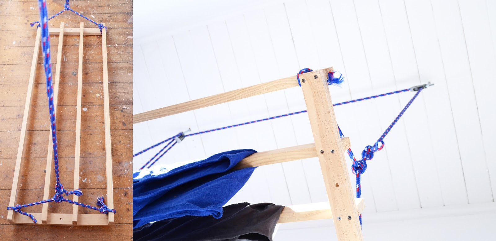Best ideas about DIY Drying Racks . Save or Pin Red Brick Magazine DIY clothes drying rack Now.
