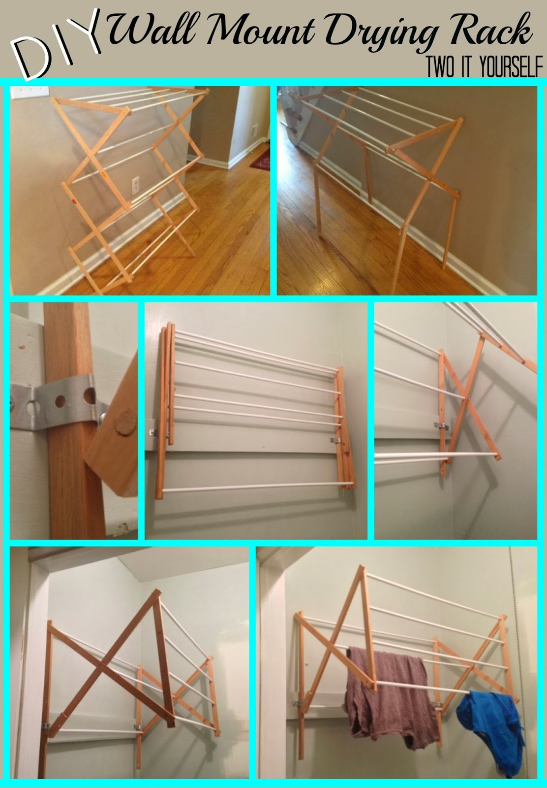 Best ideas about DIY Drying Racks . Save or Pin Two It Yourself DIY Laundry Drying Rack Wall Mount from Now.