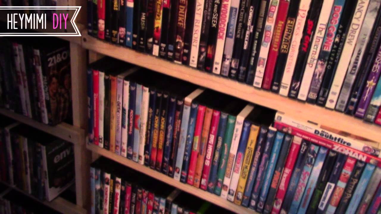 Best ideas about DIY Dvd Rack . Save or Pin DIY DVD Shelves Quick and Cheap DVD Storage Shelf Now.