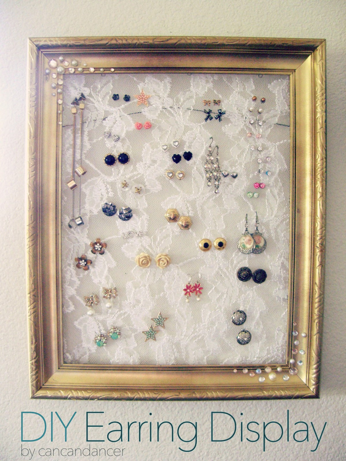 Best ideas about DIY Earring Display . Save or Pin Can Can Dancer DIY Earring Display Now.