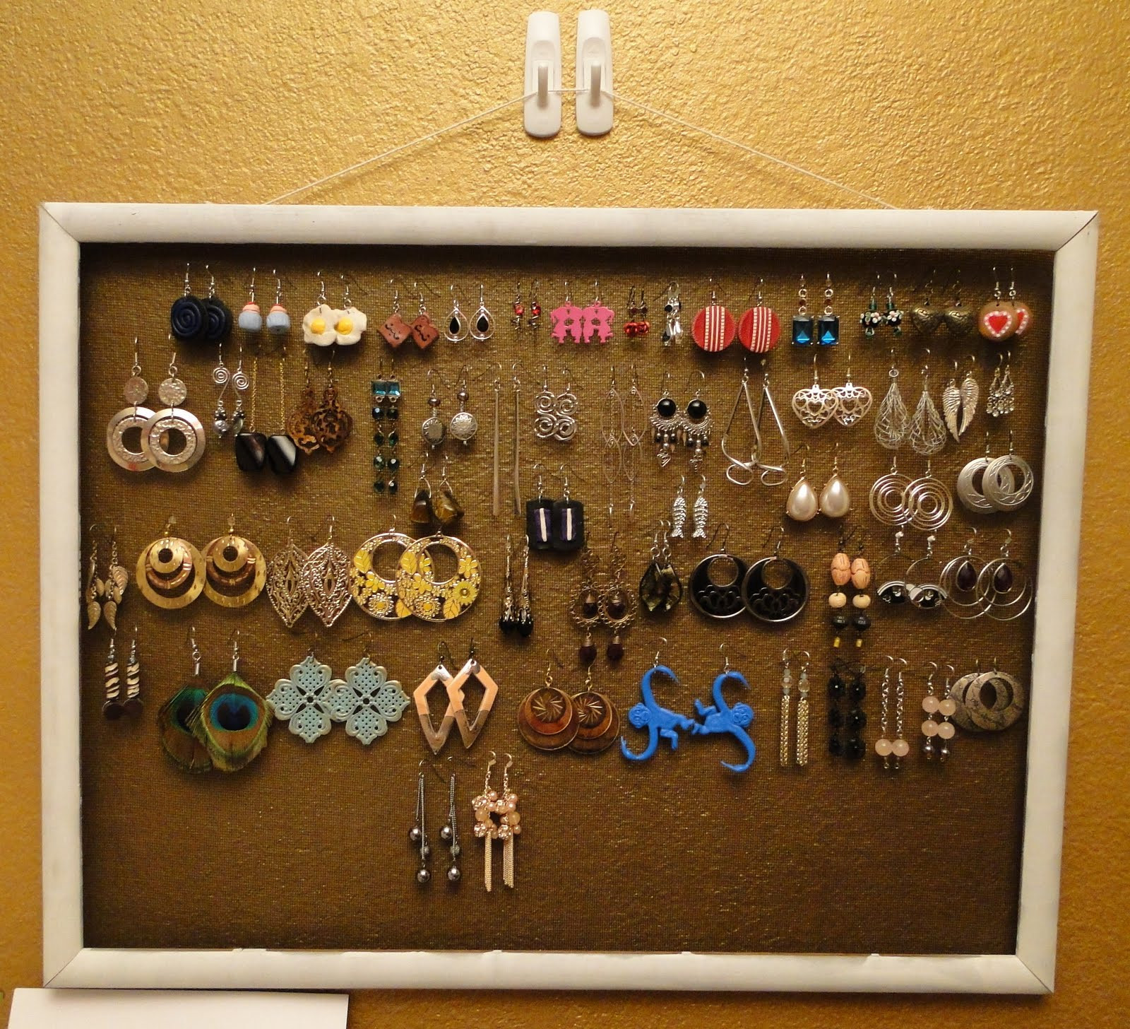 Best ideas about DIY Earring Display . Save or Pin Trend Paige DIY Earring Holder Now.