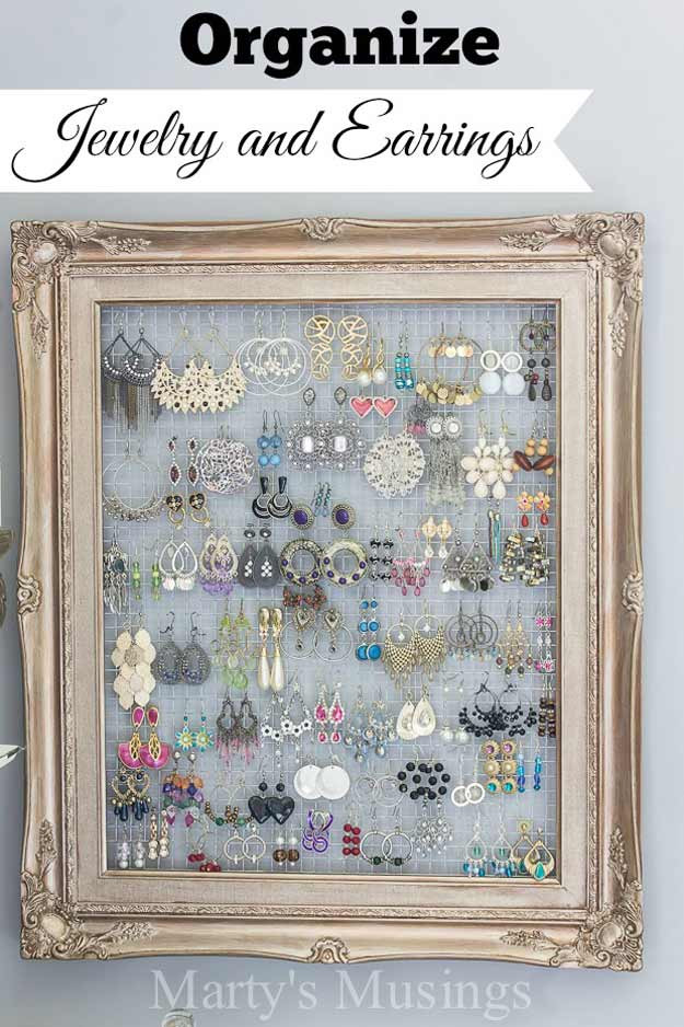 Best ideas about DIY Earring Display . Save or Pin 20 DIY Shabby Chic Decor Ideas DIY Ready Now.