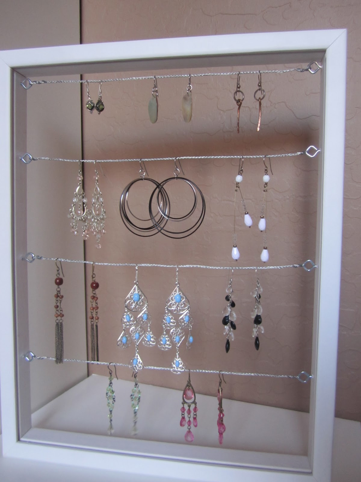 Best ideas about DIY Earring Display . Save or Pin The Creative Cubby DIY Earring Holder Now.