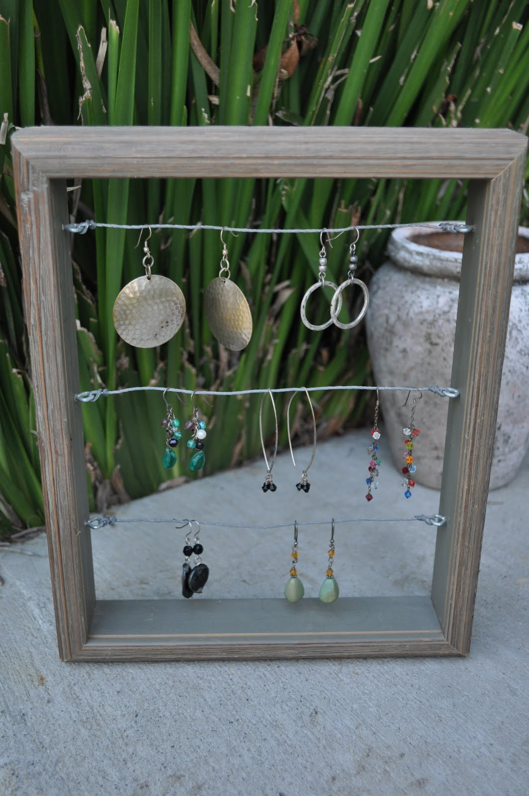 Best ideas about DIY Earring Display . Save or Pin Four Harp Designs Tutorial DIY Earring Display & Organizer Now.