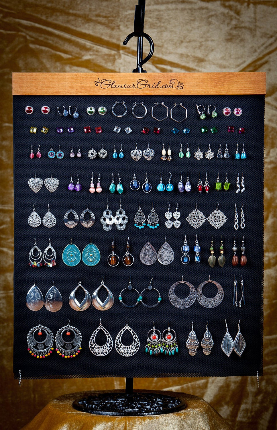 Best ideas about DIY Earring Display . Save or Pin Hanging earring organizer Now.