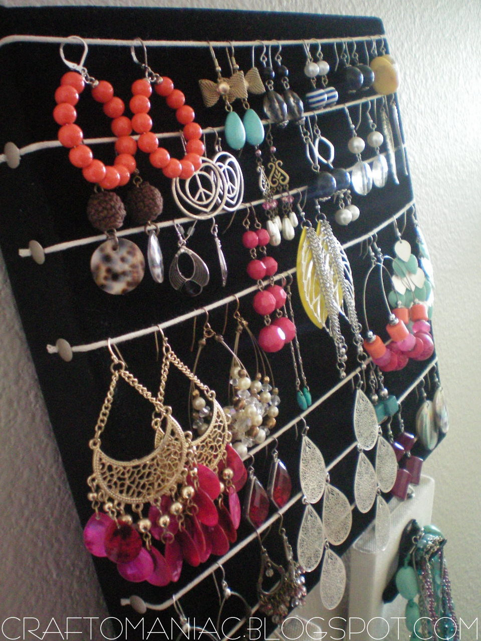 Best ideas about DIY Earring Display . Save or Pin Getting Organized DIY Earring & Necklace Holder Craft O Now.