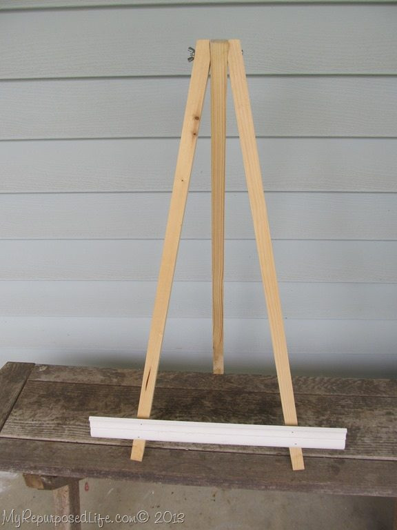 Best ideas about DIY Easel Stand . Save or Pin Build DIY How to make a simple easel stand Plans Wooden Now.