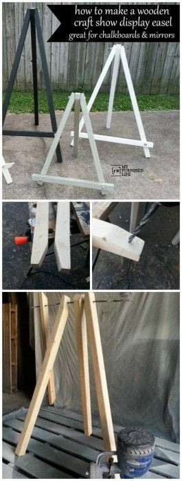 Best ideas about DIY Easel Stand . Save or Pin Chalkboard or Craft Show DIY Easels DIY Ideas Now.