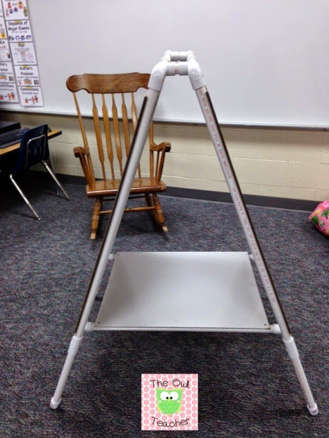 Best ideas about DIY Easel Stand . Save or Pin DIY Easel for Your Classroom The Owl Teacher Now.