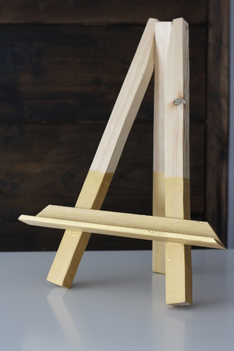 Best ideas about DIY Easel Stand . Save or Pin DIY Easel Picture Frame Now.
