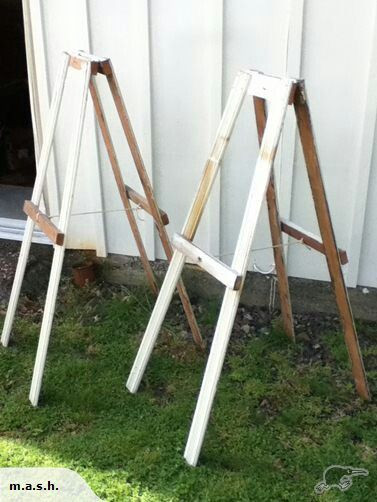 Best ideas about DIY Easel Stand . Save or Pin Home made easels … Wedding stuff Now.