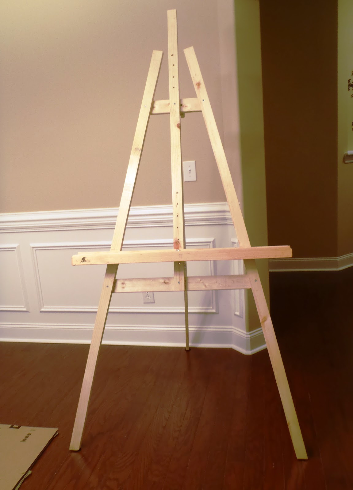 Best ideas about DIY Easel Stand . Save or Pin Lazy Liz on Less Build a Cheap Quick and Easy Artist Easel Now.