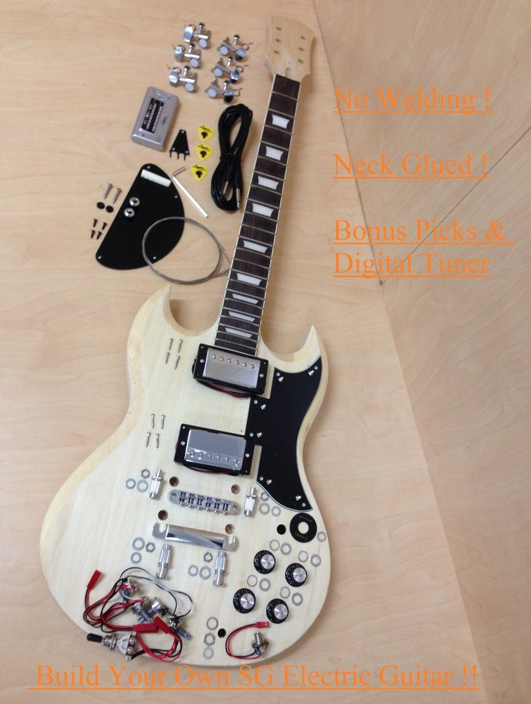 Best ideas about DIY Electric Guitar . Save or Pin 4 4 E 240DIY SG Style Electric Guitar DIY Kits Set Neck Now.