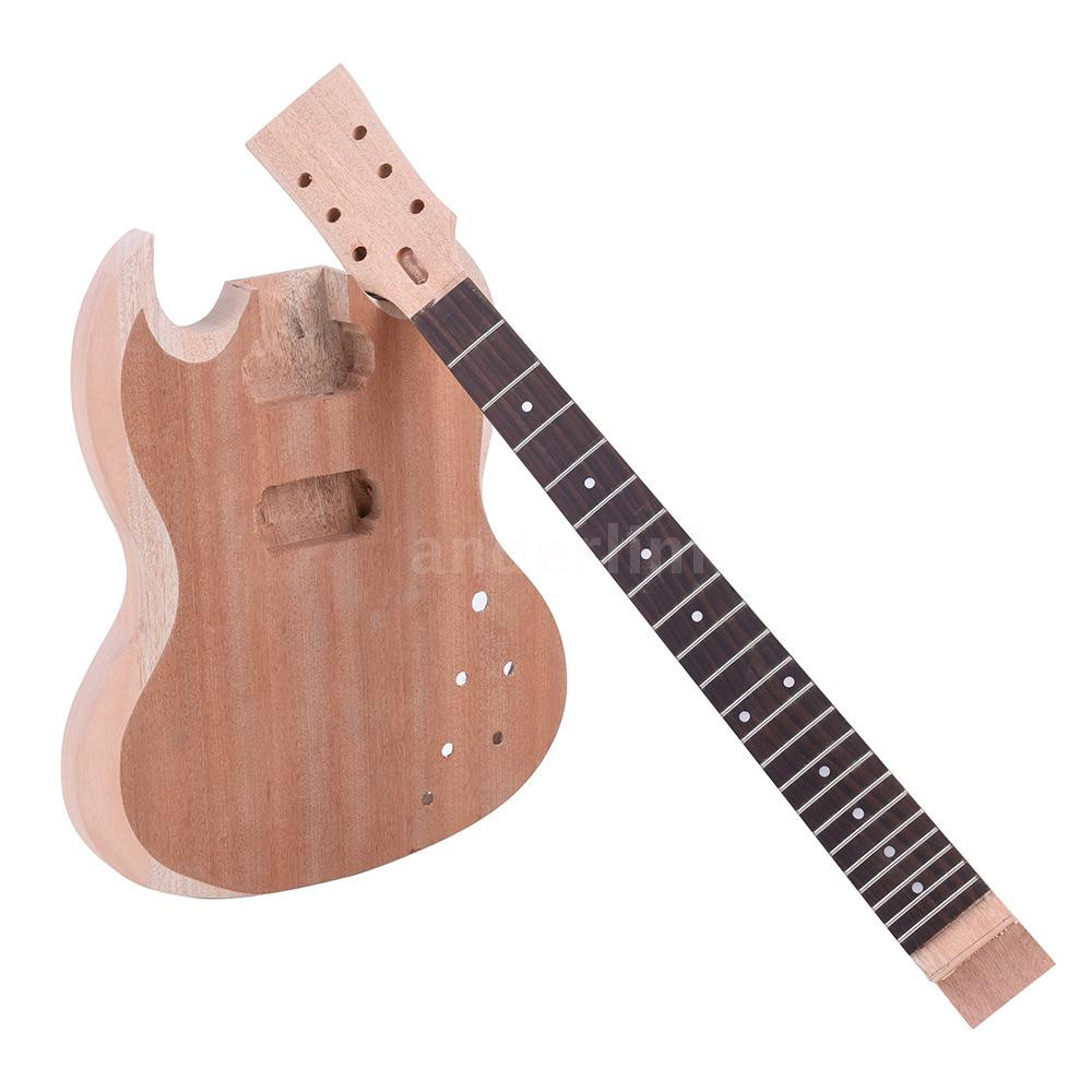 Best ideas about DIY Electric Guitar . Save or Pin Unfinished DIY Electric Guitar Kit Mahogany Body Neck Now.