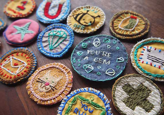 Best ideas about DIY Embroidered Patches . Save or Pin Make Embroidered DIY Merit Badges Etsy Journal Now.