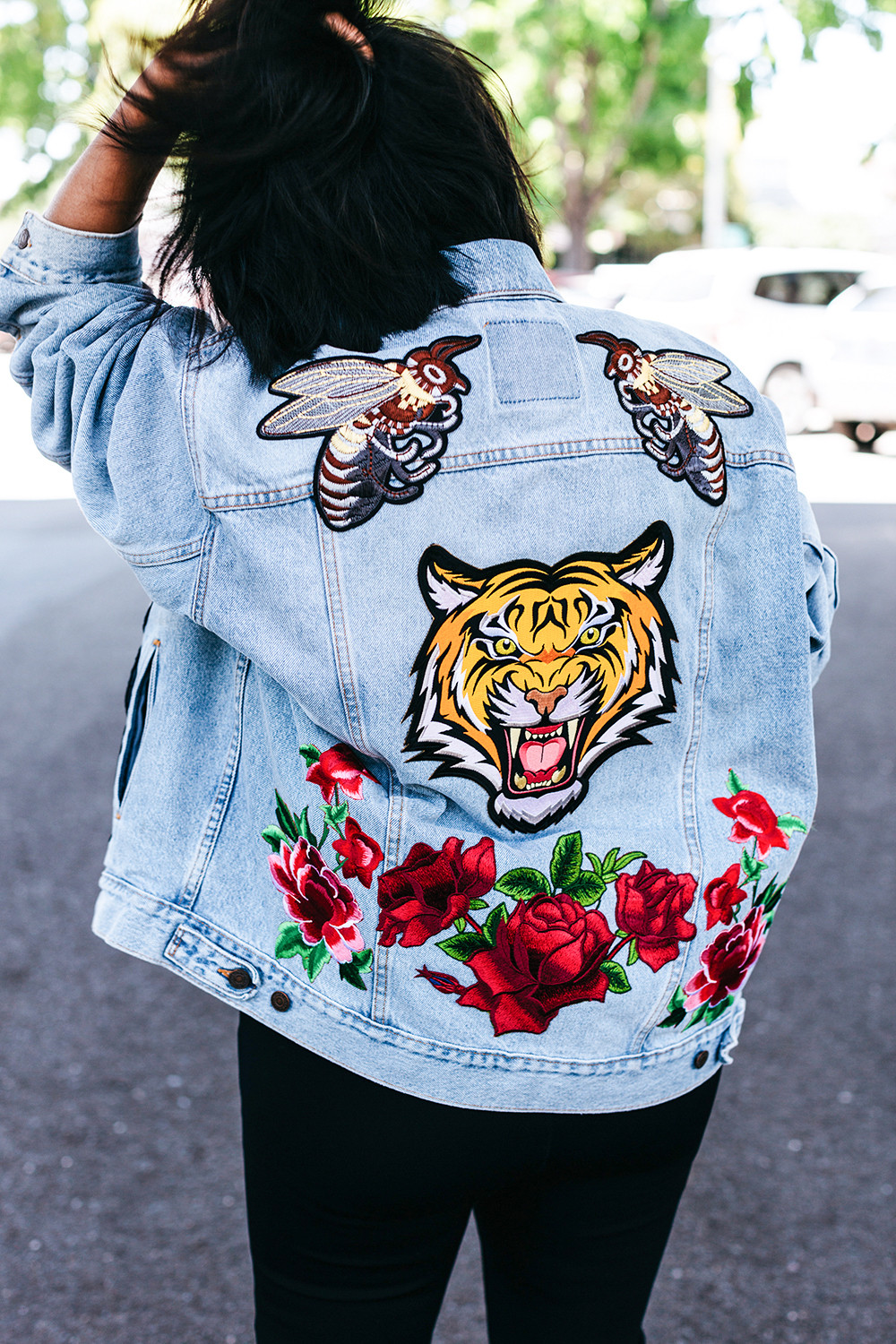 Best ideas about DIY Embroidered Patches . Save or Pin DIY Embroidered Patch Denim Jacket Now.