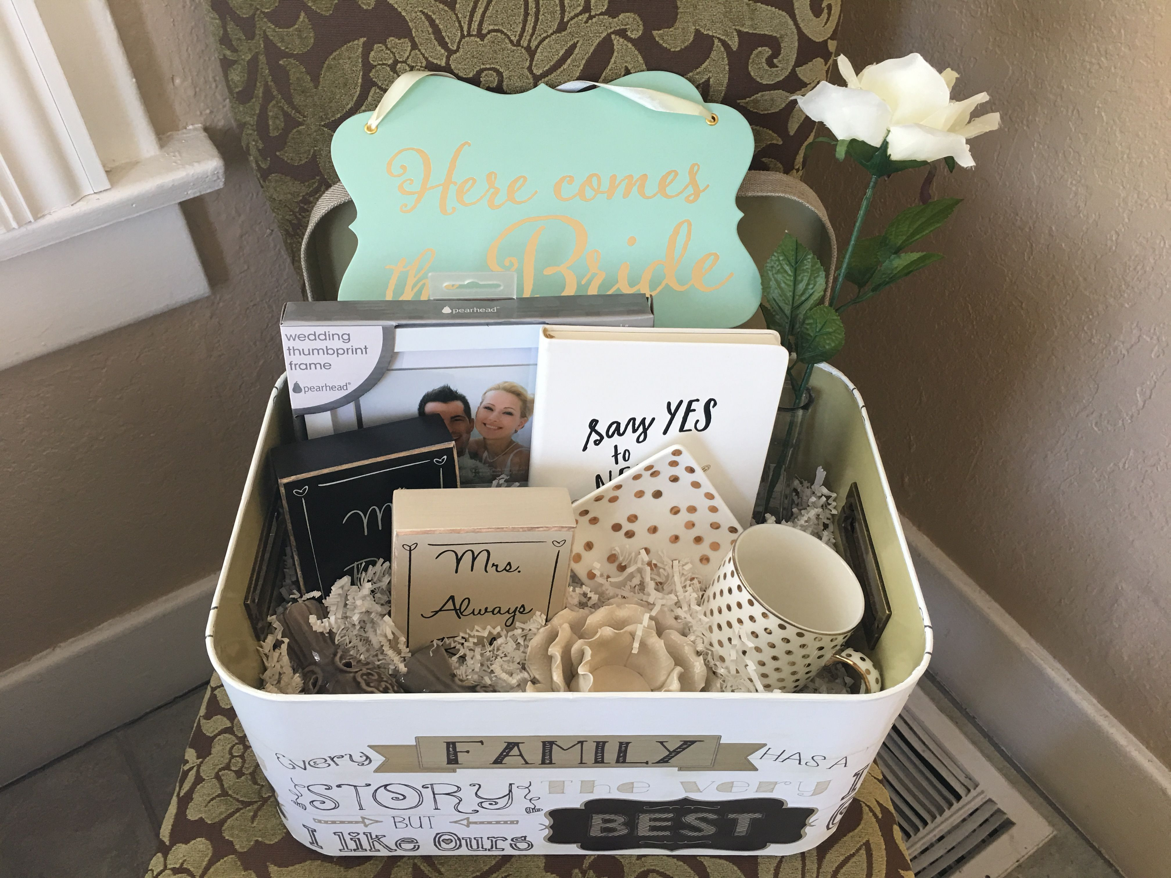 Best ideas about DIY Engagement Gifts . Save or Pin DIY Engagement Gift Basket Items from Bed Bath and Beyond Now.