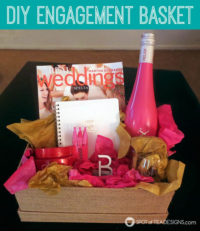 Best ideas about DIY Engagement Gifts . Save or Pin DIY Engagement Basket GUEST POST Now.