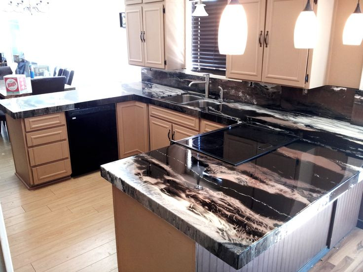 Best ideas about DIY Epoxy Countertops . Save or Pin Are you a Black and White kind of person well we can make Now.