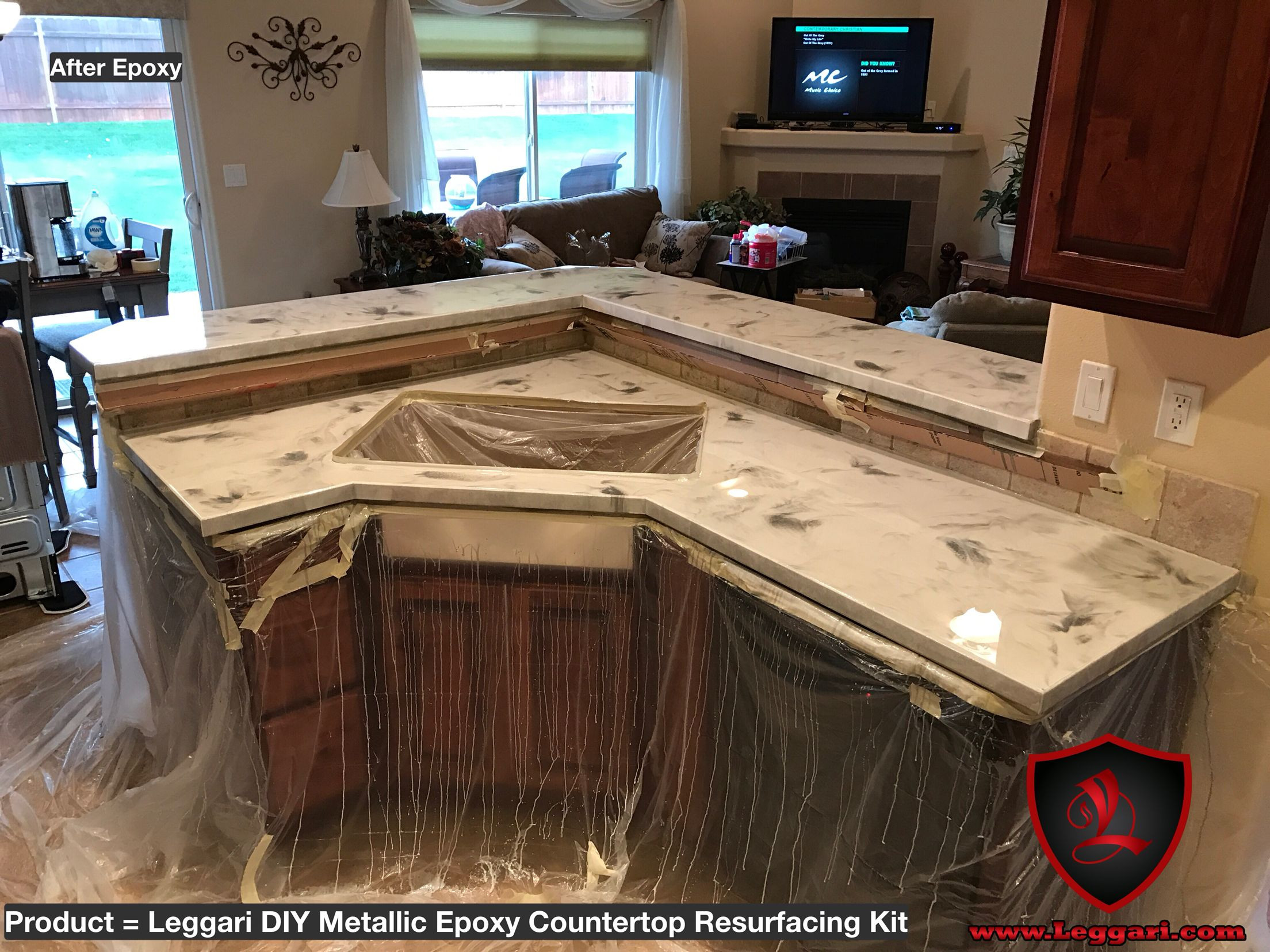 Best ideas about DIY Epoxy Countertops . Save or Pin diy metallic epoxy countertop kit installed in a Now.