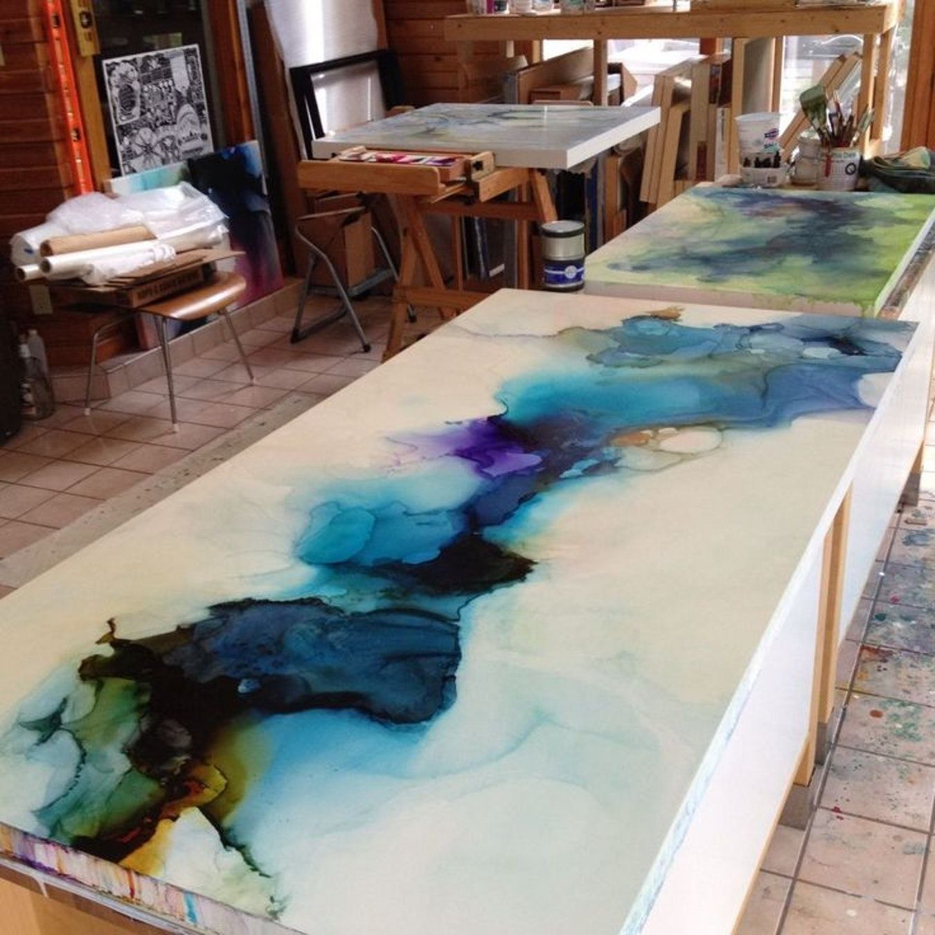 Best ideas about DIY Epoxy Countertops . Save or Pin Epoxy resin countertops diy art encaustic modernist Now.